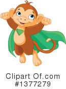Royalty-Free (RF) Monkey Clipart Illustration #1377279
