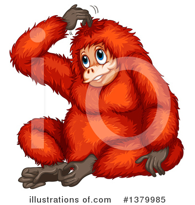 Monkey Clipart #1379985 by Graphics RF