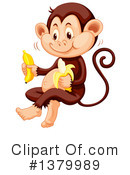 Royalty-Free (RF) Monkey Clipart Illustration #1379989