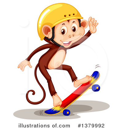 Skateboarding Clipart #1379992 by Graphics RF