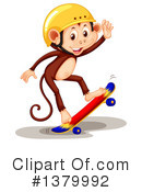 Royalty-Free (RF) Monkey Clipart Illustration #1379992