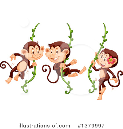 Monkey Clipart #1379997 by Graphics RF