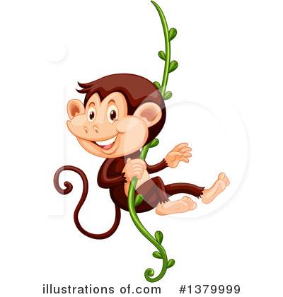 Royalty-Free (RF) Monkey Clipart Illustration by Graphics RF - Stock Sample #1379999