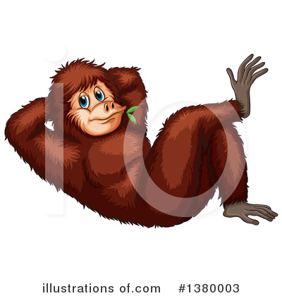 Monkey Clipart #1380003 by Graphics RF