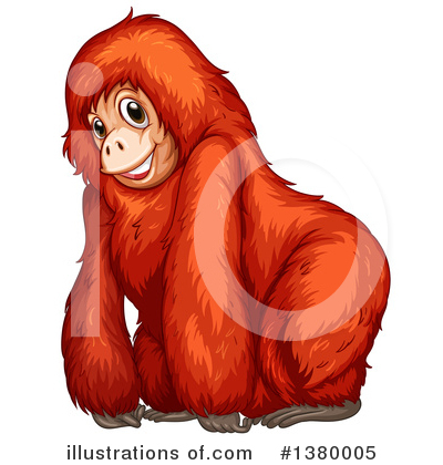 Monkey Clipart #1380005 by Graphics RF