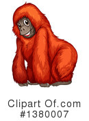 Monkey Clipart #1380007 by Graphics RF