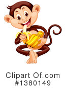 Royalty-Free (RF) Monkey Clipart Illustration #1380149