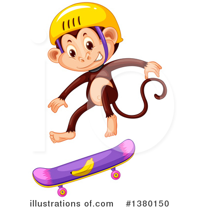 Skateboarding Clipart #1380150 by Graphics RF