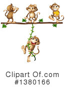 Royalty-Free (RF) Monkey Clipart Illustration #1380166