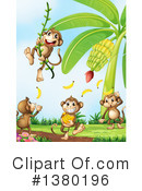 Royalty-Free (RF) Monkey Clipart Illustration #1380196