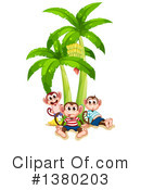 Royalty-Free (RF) Monkey Clipart Illustration #1380203