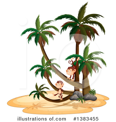 Palm Trees Clipart #1383455 by Graphics RF