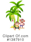 Royalty-Free (RF) Monkey Clipart Illustration #1387910