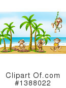 Royalty-Free (RF) Monkey Clipart Illustration #1388022