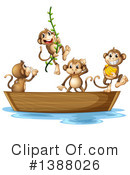 Royalty-Free (RF) Monkey Clipart Illustration #1388026