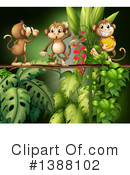 Royalty-Free (RF) Monkey Clipart Illustration #1388102