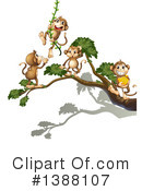 Royalty-Free (RF) Monkey Clipart Illustration #1388107