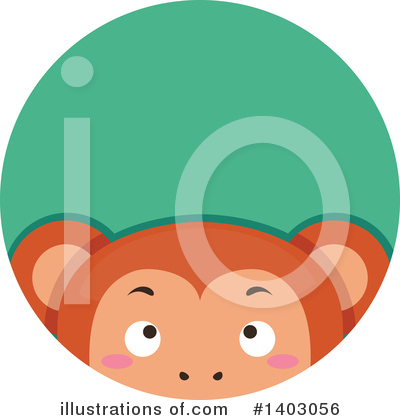 Monkey Clipart #1403056 by BNP Design Studio