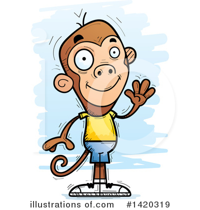 Primate Clipart #1420319 by Cory Thoman