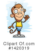 Monkey Clipart #1420319 by Cory Thoman