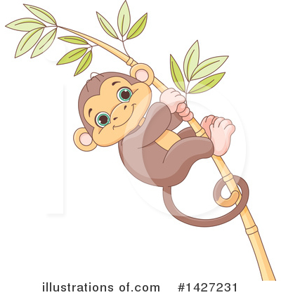 Monkey Clipart #1427231 by Pushkin