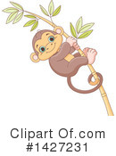 Royalty-Free (RF) Monkey Clipart Illustration #1427231