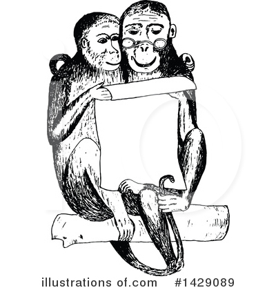 Reading Clipart #1429089 by Prawny Vintage