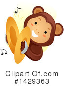 Royalty-Free (RF) Monkey Clipart Illustration #1429363