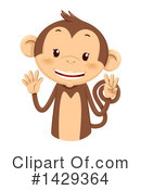 Monkey Clipart #1429364 by BNP Design Studio