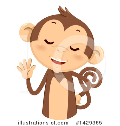 Monkey Clipart #1429365 by BNP Design Studio