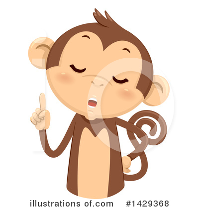 Monkey Clipart #1429368 by BNP Design Studio