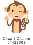 Monkey Clipart #1429369 by BNP Design Studio