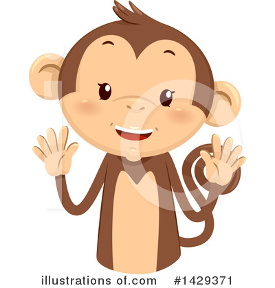 Monkey Clipart #1429371 by BNP Design Studio
