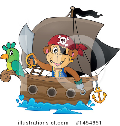 Pirate Ship Clipart #1454651 by visekart