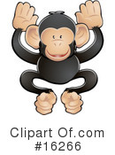 Royalty-Free (RF) Monkey Clipart Illustration #16266