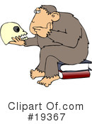 Royalty-Free (RF) Monkey Clipart Illustration #19367