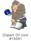 Royalty-Free (RF) Monkey Clipart Illustration #19391