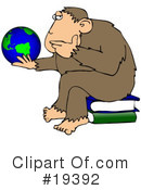 Royalty-Free (RF) Monkey Clipart Illustration #19392