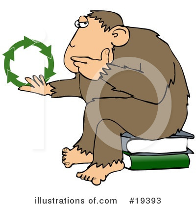 Royalty-Free (RF) Monkey Clipart Illustration by Dennis Cox - Stock Sample #19393