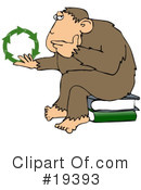 Royalty-Free (RF) Monkey Clipart Illustration #19393