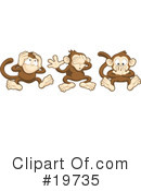 Royalty-Free (RF) Monkey Clipart Illustration #19735