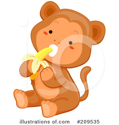 Royalty-Free (RF) Monkey Clipart Illustration by BNP Design Studio - Stock Sample #209535
