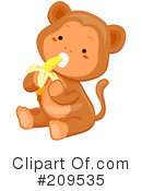 Royalty-Free (RF) Monkey Clipart Illustration #209535
