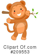 Royalty-Free (RF) Monkey Clipart Illustration #209553