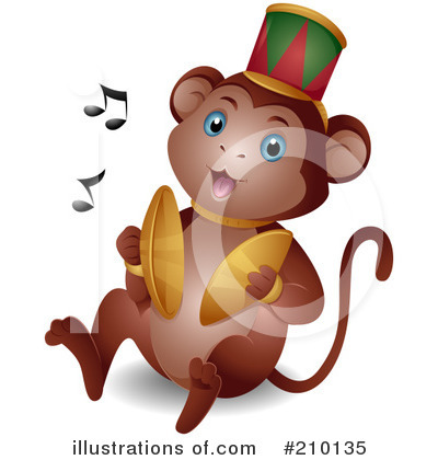 Royalty-Free (RF) Monkey Clipart Illustration by BNP Design Studio - Stock Sample #210135