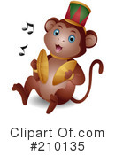 Royalty-Free (RF) Monkey Clipart Illustration #210135