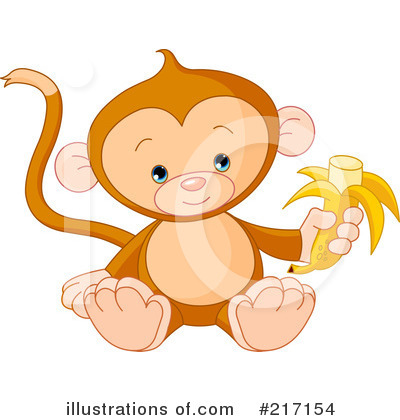 Royalty-Free (RF) Monkey Clipart Illustration by Pushkin - Stock Sample #217154
