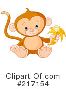 Royalty-Free (RF) Monkey Clipart Illustration #217154