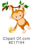 Royalty-Free (RF) Monkey Clipart Illustration #217164