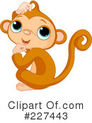Royalty-Free (RF) Monkey Clipart Illustration #227443